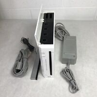 Nintendo Wii Gaming Console Sensor + Cords Gamecube Compatible White Tested