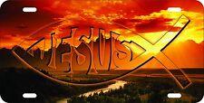 NEW ALUMINUM LICENSE PLATE CHRISTIAN JESUS FISH 6 x 12 ALUMINUM