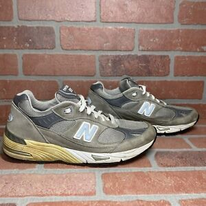 New Balance 991 M991GL Grey Suede USA Sz 9 D Running Shoes RARE