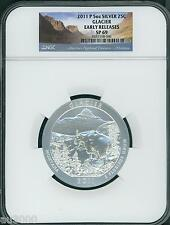 2011-P GLACIER NP ATB America Beautiful 5 Oz SILVER NGC SP69 EARLY RELEASES E.R.