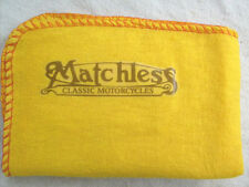 MATCHLESS MOTORCYCLE: NEW LARGE QUALITY CLEANING DUSTER CLOTH WITH LOGO DECAL