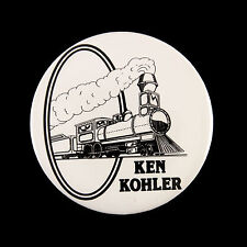 "1990's Disneyland Ken Kohler Train 3"" Pinback Button"