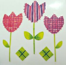 Tulip Flowers Rub On Permanent Transfer Decal Tile Glass Scrapbooking DT134