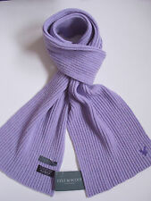 Lyle & Scott scarf lilac purple ladies womens wool ribbed woollen NEW