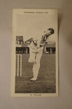 1953 - Vintage - Morning Foods Ltd. - Cricket Card - K.R. Miller - N.S.W.
