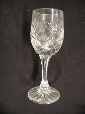 "Small ""Cordial"" Crystal Stemware Glass. No Chips or Cracks. 4 3/4"" x 2""."