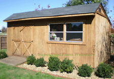 Custom Design Shed Plans, 10x20 Gable Garden, Easy Step by Step Instructions CD