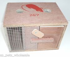 24/7 NEW WOODEN TWO HOLE BOX MOUSE/RODENT/PEST TRAP HUMANE INDOOR/OUTDOOR USE