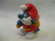 1981 vintage Papa Smurf Christmas Santa Claus Schleich Peyo Smurfs pvc figure !!