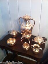 6 piece Antique Wilcox Meriden Silverplate Tea Set Quadruple Plate  1800's