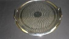 RETRO ROUND STAINLESS STEEL SERVING TRAY