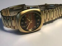 NEW OLD STOCK ZODIAC SST 36000 MEN'S AUTOMATIC WRISTWATCH GOLD PLATED