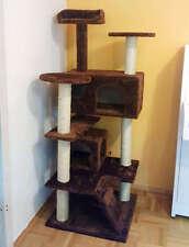 Endpreis!strak/Einfach bauen Mittelgroßer/großer Kratzbaum Katzenbaum,Braun130cm