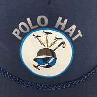 Polo Hat Air Force Communications Blue with World Logo Vintage Cap