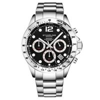 Stuhrling 3961 5 Quartz Chronograph Date Stainless Steel Bracelet Mens Watch