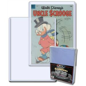 Golden Age Comic Rigid Toploader Holder x 10 per pack