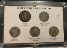 Vintage United States Quarter Type Set Lot Bust Seated Standing Liberty Barber