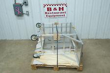 Stainless Steel Top Aluminum Frame Mobile Fryer Landing Dump Table Station Cart