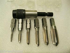 Heller Einschnitt Gewindebohrer Bit Set M3 - M10 HSS-G Gewindeschneider