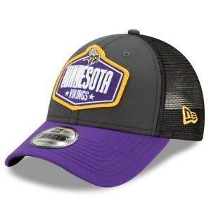 Minnesota Vikings New Era 2021 NFL Draft Trucker 9FORTY Snapback Adjustable Hat