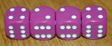 DUDDS DICE VIOLET w/WHITE DOTS VALVE STEM CAPS (4 PACK) FITS FORD, CHEVY #96