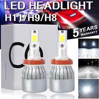 H8 H9 H11 100W 20000LM LED Headlight Bulbs Conversion Kit 6000K High Low Beam