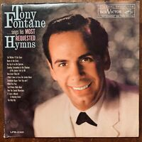 TONY FONTANE SINGS HIS MOST REQUESTED HYMNS VINYL LP RCA VICTOR LPM-2301 VG