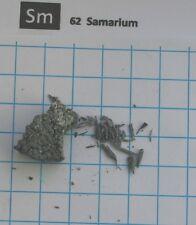 10 gram 99,5% TREM 99,9% Samarium metal - pure element 62 sample