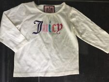 Juicy Couture New & Genuine Baby Girls Cream Cotton T-shirt Age 6/12 MTHS & Logo