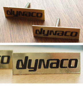 (PAIR) NOS DYNACO Screw-In Speaker Logo Badge -- A10/A25/A25XL/A35/A40XL/A50
