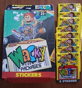 1991 Topps Wacky Packages Empty Display Retail Box + 8 Empty Wrappers ~ No Cards