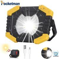 Powerful 80000LM Solar LED Flashlight Portable Emergency Work Light Camping Lamp