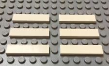 LEGO Lot of 6 White 1x4 Tile 9493 8480 10129 7744 4032 7636 6398 7259 1774