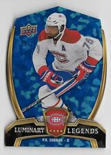 2015-16 UD NHL Overtime Luminary Legends P.K. Subban 20/25 Candiens #LL-8