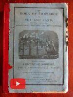Whale Fishing History of Commerce 1837 woodcuts folding world map Arts
