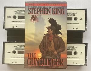 Stephen King The Gunslinger 4 Cassettes Audio Book Unabridged Dark Tower Series