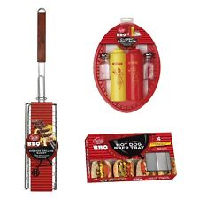 TableCraft BBQ Series 3pc Hot Dog & Sausage Barbeque / Grilling Tool Set