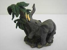 """Adorable Resin Elephant and Trees Candle Holder - 6"""" x 7"""""""