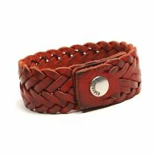 DSQUARED2 Armlet / Bracelet Red Plaited Leather Size One size IM 31