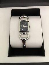 GUCCI Tornabuoni GG Signature Pattern Silver Bracelet Ladies Watch 0107