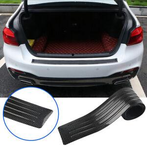 Carbon Fiber Car Trunk Sill Protector Bumper Guard Strips Anti scratch Accessory