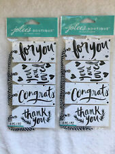 Jolee's Gift Craft Tags Eksuccess Wilton Sentiment Lot Of 2 (16 Tags Total)