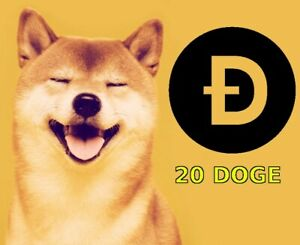 20 DOGE Coin Cryptocurrency Mining Contract Twenty Dogecoin Crypto