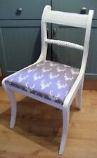 Lovely Shabby Chic Regency Dining/Bedroom Chair & reupholstered in Stag Fabric