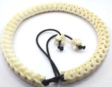 Real Genuine Snake Spine Bone yellowish-white, Necklace Tribal Ethnics Biker XL