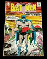 """1963 DC Batman #156 """"Robin Dies At Dawn"""" Silver Age Comic, Classic Cover"""