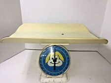 Vintage Baby Nursery Scale 1950s Era Plastic Puppy Dog 25 lbs Calibrate Infant