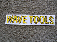 wave tools surfboard surfing longboard sticker decal 1980s surfer surf cali