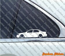 2X Lowered car outline stickers -for Nissan Maxima 5th gen A33, 2000–2003