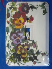 Vine of Flowers Wall Plate Switch Cover -- NEW IN PACKAGE -- Leviton 89001-VIN
